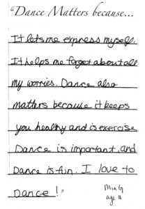 Why Dance Matters: I forget about my worries